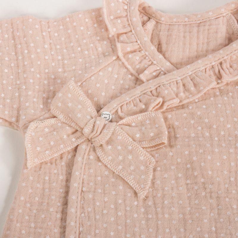 ביגוד ראשוני לתינוק - חליפה לתינוקות בנות -ורוד כוכבים little stars