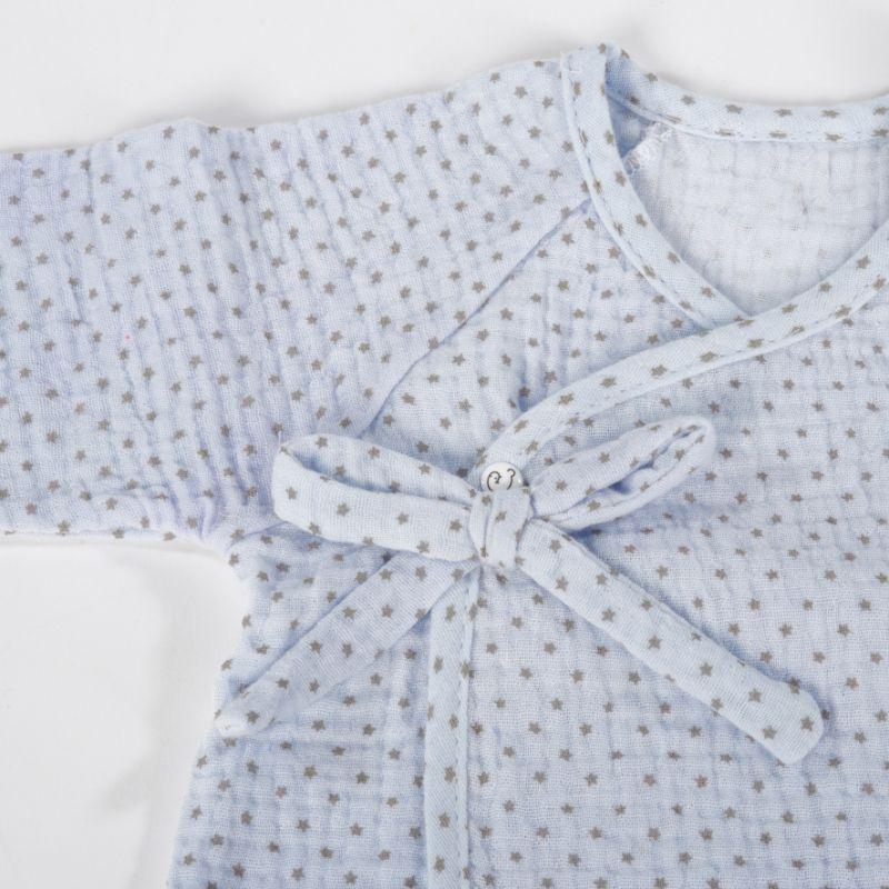 ביגוד ראשוני לתינוק - חליפה לתינוקות בנים - תכלת כוכבים little stars